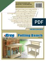Kreg Jig Potting Bench instructions