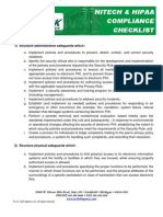 HITECH and HIPAA Compliance Checklist