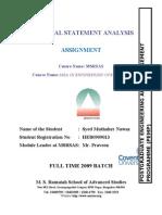 Financial Statement Analysis by Nawaz