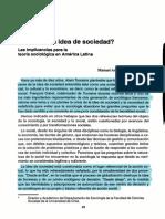 Garretón - Crisis de La Idea de Sociedad