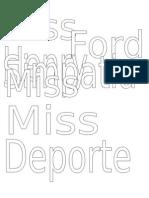 Letras Bandas Henry FORD