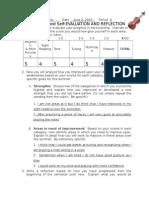 orchestra post reflection checklist 2015