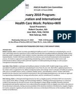 Healthcare Committee Flyer Feb 2010