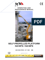 Haulotte HA16PX and 18PX - Operating and Maintenance Instructions - 74 Pages