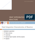Heat Ingeration of Reactors