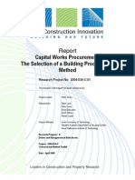 Report - Capital Works Procurement - The Selection of a Building Procurement Method