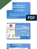 IntroDuccion WolframAlpha