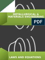 Metallurgical & Materials Engineering