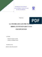 La Teoria de Los Frutos Del Arbol Envenenado y Sus Excepciones. Felipe Alvarez y Karina Gutierrez