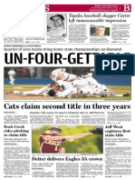 sports front for june 2, 2015