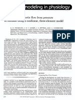 Computation of aortic flow from pressure in humans using a nonlinear, three-element model