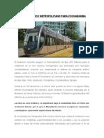 Tren Eléctrico Metropolitano Para Cochabamba