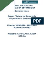 Mendoza_arellano_S5_T5Estado de Desarrollo Corporativo – Evaluación