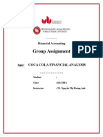 COCA COLA FINANCIAL ANALYSIS
