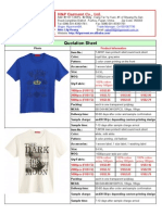 150318 Catelouge and Price List of Men T-shirt
