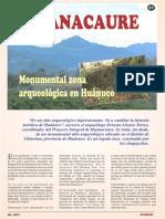 Huancaure. Monumental zona arqueológica en Huánuco