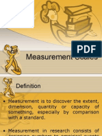 Measurenent Scales