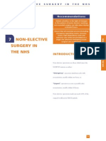Non-elective Surgery in the Nhs