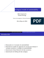 Towards an ecological model of sustainability