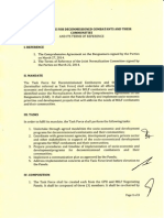 TOR of Task Force for Decommissioned Combatants