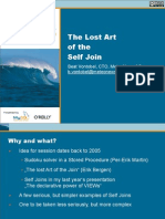The Lost Art of the Self Join Presentation