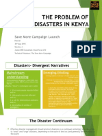 The Problem of Disasters in Kenya