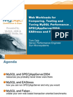 Web Workloads for Comparing, Testing   Tuning MySQL Performance , SPECjAppServer2004, EAStress   Faban Presentation