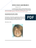 Dpd Fugitive Cold Case Project