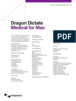 Nuance Dragon Dictate Medical Disciplines