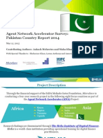 Agent Network Accelerator Pakistan Country Report 2014