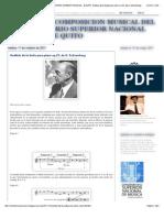 CARRERA DE COMPOSICION MUSICAL DEL CONSERVATORIO SUPERIOR NACIONAL DE MUSICA DE QUITO