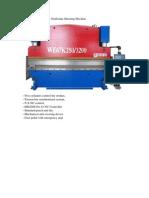 WH67K NC Hydrualic Press Brake