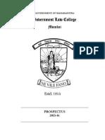 Government Law College Prospectus