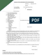 Contoh Format Surat Lamaran CPNS 2014