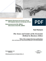 The Sense and Limits of the Economic Method in Business Ethics