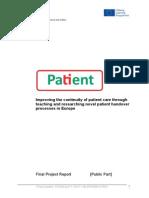 PATIENT - Final Project Report