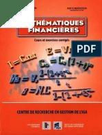 Mathématiques Financières -Cours et exerces corrigés