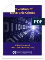 IPS on Electronic Crimes Bill 2015