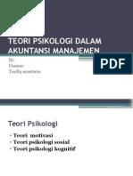 Teori Psikologi Dalam Akuntansi Manajemen