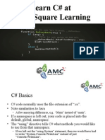 Learn C Sharp at AMC Square Learning