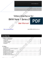 BMW F20 Video Interface User Manual