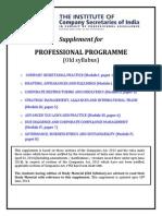 Professional Programme Supplememnt