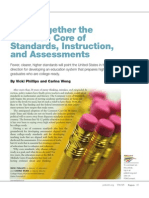 Common Standards Instruction and assessment