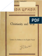 Жива Црква ; Christianity and War ; Leters of a Serbian to His English Friend (1915.) - Nicholai Velimirovic