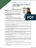 Alexandru Lele Victor Ponta Se Teme de Adevar, In Cazul Mortii Lui Cristian Panait