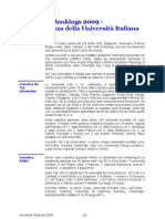 University Rankings 2009 - Inadeguatezza della Università Italiana