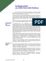 University Rankings 2009 - Inadeguatezza della Università Italiana