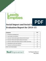 Leeds Empties Social Impact Report 2014-15
