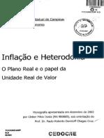 TCC Inflação e Heterodoxia