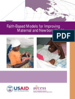 Faith-Based Models for Improving Maternal and Newborn Health